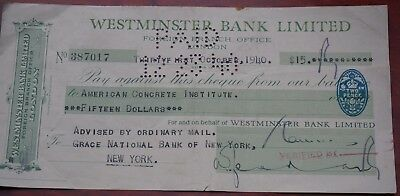 E 1928 cheque portumna ireland the national bank - National westminster bank head office address ...