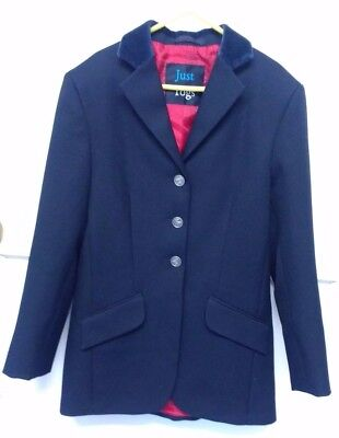 JUST TOGS Blue SHOW JACKET, size 8yrs, VGC