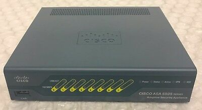 Cisco ASA 5505 Series ASA5505 V09 Adaptive Security Appliance Firewall VPN