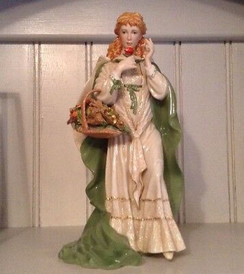 Discontinued Musical Franklin Mint Figure The Rose Of Tralee By Ann O'Connor