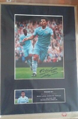 SERGIO AGUERO Man City Signed Quality Autograph Mounted Photo Repro A4 Print