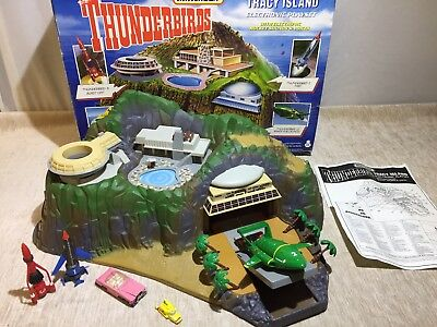 Matchbox Tracy Island **Vintage Thunderbirds ** Cars Included. Working Sounds.
