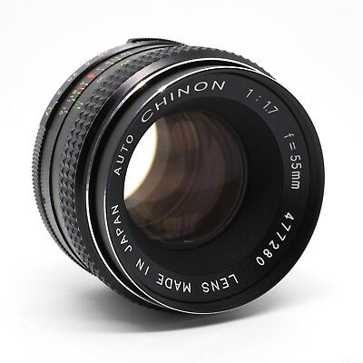 Chinon Auto 55mm F1.7 M42 Screw Mount Manual Focus Prime Lens