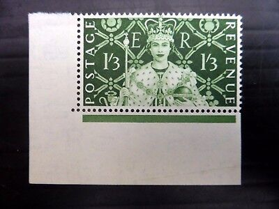 GB 1953 - 1/3 with Light Crease At Top SGW3a U/M AH322
