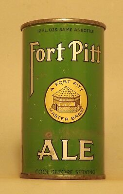 Gorgeous Indoor Fort Pitt Ale OI Flat Top Beer Can, Pittsburgh, PA