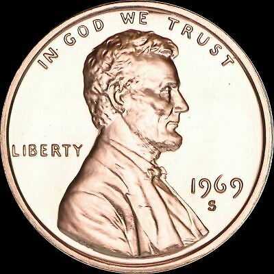 "1969 S Lincoln Memorial Cent PROOF Penny US Mint Coin in ""Beautiful"" Condition"