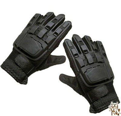 Enola Gaye Full Finger Armored Tactical Gloves Airsoft Paintball Wood Black Wing