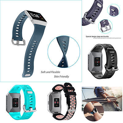 Wrist Bands For Fitbit Ionic Watch Classic Replacement Sport Gel Silicone Strap