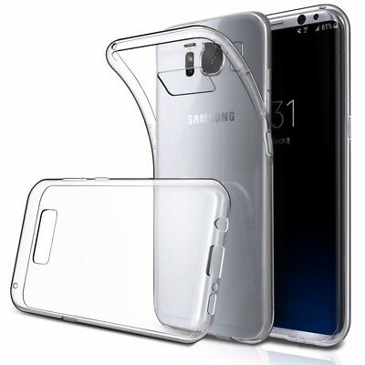 NEW Back Case Soft Clear Silicone Tempered Glass for SAMSUNG S8