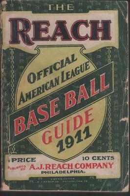 1911 Reach Baseball Guide with covers and good binding