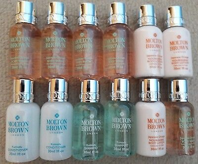 Molton Brown Various Items Body Wash Shampoo Conditioner  Body Lotion 12 items
