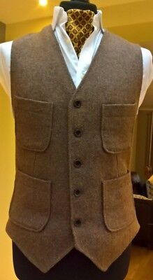 Impeccable Gent's Tweed Waistcoat - Great weave and colour - Medium