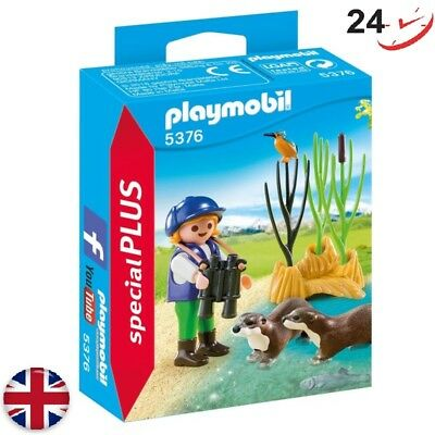 Playmobil 5376 Special Plus Young Explorer with Otters Learning Interactive Play