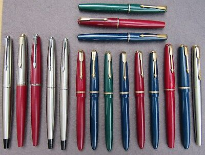 19 Parker Fountain Pens Sold For Spares Or Repair