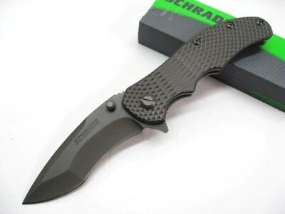 SCHRADE Titanium Handle DROP POINT RE-CURVE D2 Folding Pocket Knife! SCH601Ti