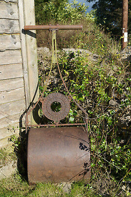 Barford and Perkins Water Filled Vintage Garden Roller,original with handle