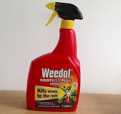 Weedol Rootkill Plus Weedkiller.Kills Weeds to the Roots. 1L.Brand New.