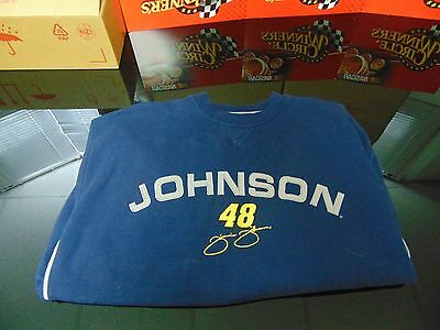 Jimmie Johnson - Pre-Owned Extra Large Blue Sweatshirt with Nice Embroidery