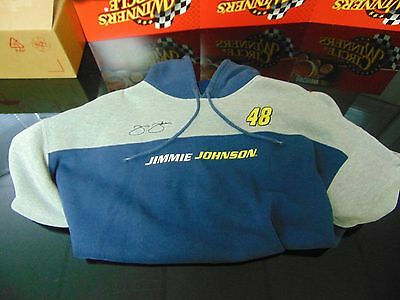 """Jimmie Johnson - Pre-Owned Blue and Gray """"Hoodie"""" Sweatshirt (Size Extra Large)"""