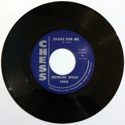 """Howlin' Wolf - Shake For Me / The Red Rooster 7"""" R&B Chess repro"""