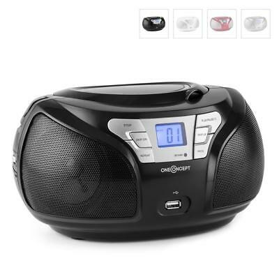 New Black Portable Fm Radio Boombox Cd Player Hifi Stereo Mp3 Bluetooth Speaker