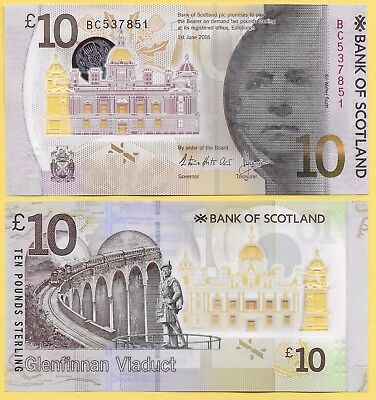 Scotland 10 Pounds p-new 2017 Bank of Scotland UNC