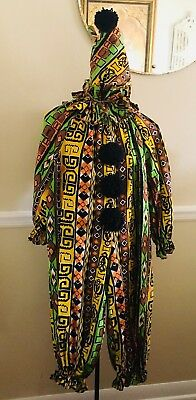 Vintage 1950s Handmade Halloween Clown Costume Sm Petite Women's Or Lg Child's