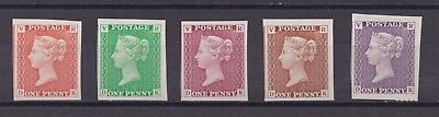 Lot:23577  GB Penny Black re production issue VR edition multi coloured set