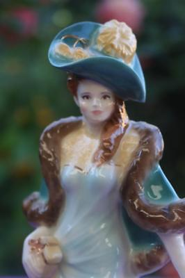 Royal Worcester figurine - ASCOT LADY - green version, like ANNA