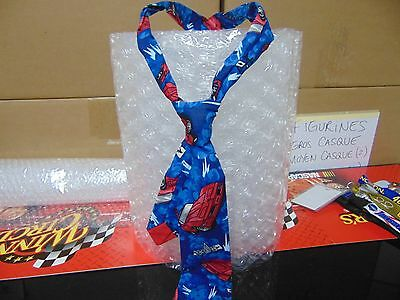 "Men's Very Rare Nice Blue ""TIE"" with C4 Red CORVETTE - Pre-Owned but Gently Worn"