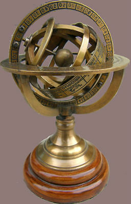 Nautical Brass Sphere Armillary Collectible Nautical Decor Gift z1