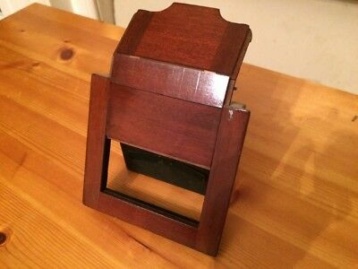 VINTAGE WOODEN FOLDING Mahogany CAMERA  DARK SLIDE