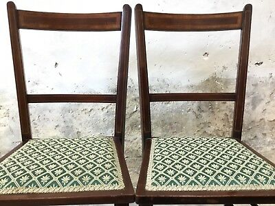 Pair of Antique Edwardian Hall/Occasional/Bedroom Chairs