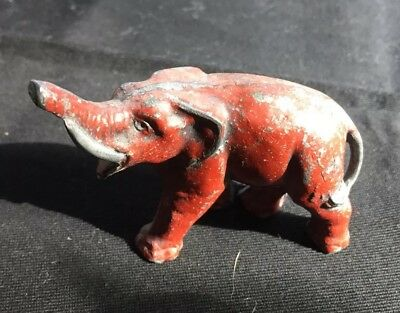 Small Vintage Metal Elephant unmarked 3 in long Collectible Toy Figurine