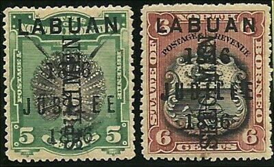 Labuan 1896, Jubilee stamps 5 & 6c