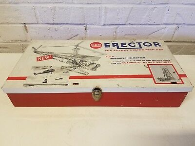1950's Gilbert 10181 Motorized Erector Helicoptor Set