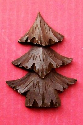 New genuine Black Forest  carved wood trees for a cuckoo clock front.