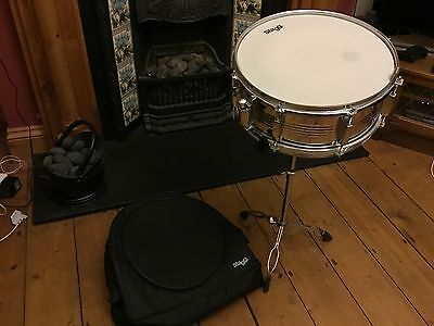 STAGG snare drum,stand & case ideal for beginner kids school excellent xmas gift