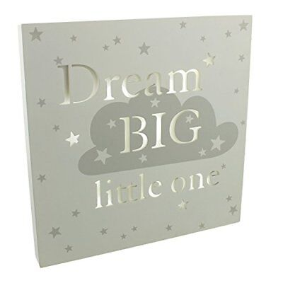 Bambino Baby Shower Light Up MDF Wall Plaque - Dream Big Little One