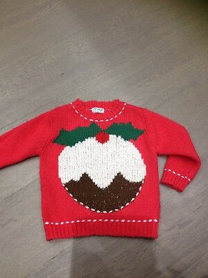 Totally Gorgeous Next Christmas Jumper Xmas Pudding Design 18-24 Months Knitted