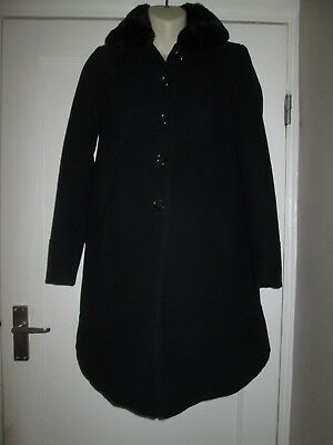 Lovely Navy Size 6 Dorothy Perkins Maternity Coat See Pics!!