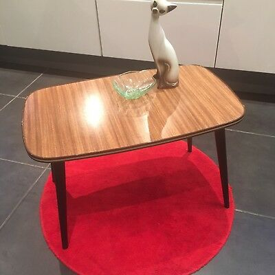 Vintage Retro Mid Century Side Coffee Table 50s 60s Formica