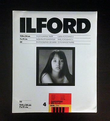 Ilford Ilfordspeed RC Deluxe IS4 24M 17,8 * 24cm 25 Photographic B&W Paper