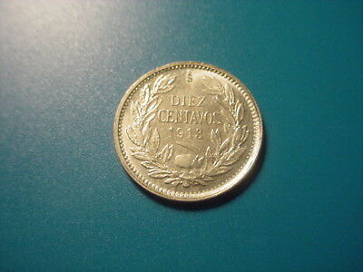 Chile - Silver - 1913 10-Centavos In Very Nice Uncirculated Condition