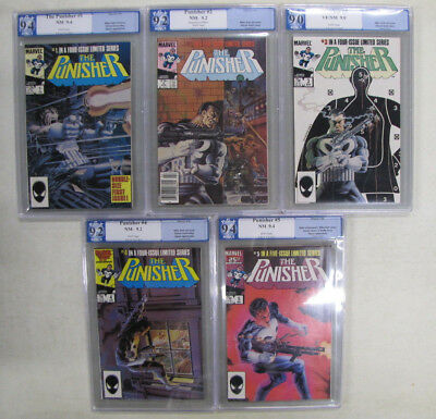 The Punisher Limited Series 1-5 All Graded PGX 9.0 or better Full Set Not CGC 2