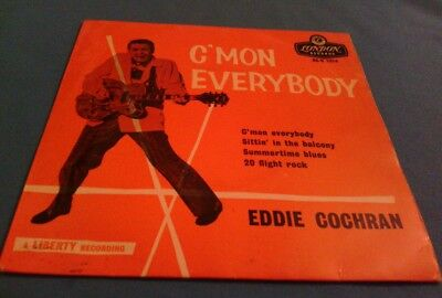 Eddie cochran cmon everybody ep with picture sleeve