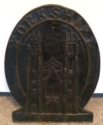 Yorkshire 1824 Antique Vintage Fire Insurance Cast Iron Plaque Sign Mark