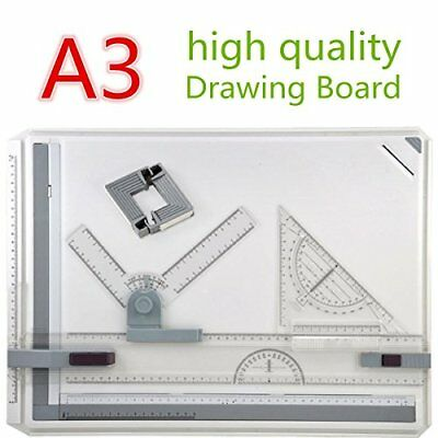 GOCHANGE 50 x 36.5cm Metric A3 Drawing Board Drafting Table with Parallel Motion