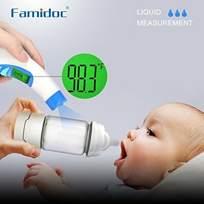 Digital Forehead Thermometer Famidoc Infrared Baby with Medical Accuracy 1Sec In