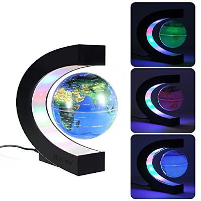 MECO 3 Magnetic Floating Globe with Colored LED Light World Map Globe for Educ